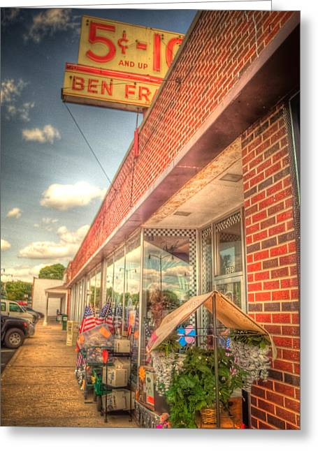 Dime Store Greeting Cards - Englewood5nDime4552-3-4 Greeting Card by Timothy Bischoff