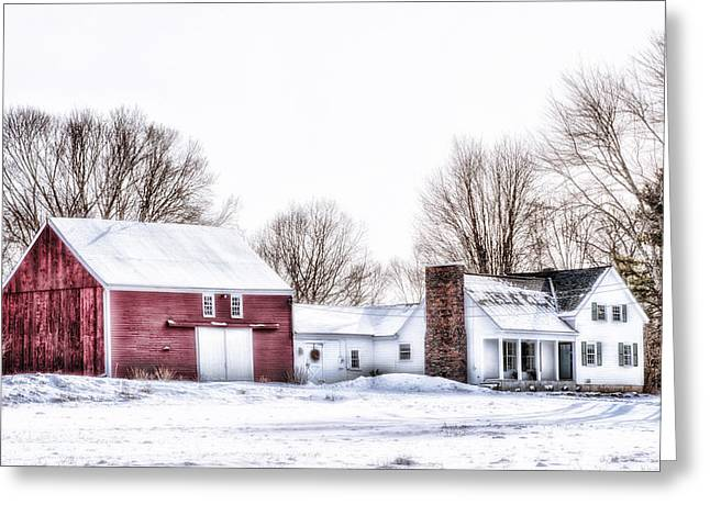 Old Maine Houses Greeting Cards - English Barn Greeting Card by Richard Bean