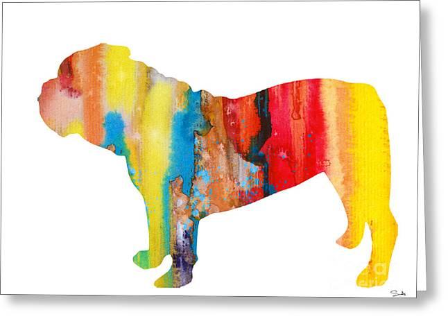 Bulldog Art Greeting Cards - English Bulldog 3 Greeting Card by Luke and Slavi