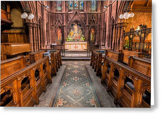 English Church 2 Greeting Card by Adrian Evans