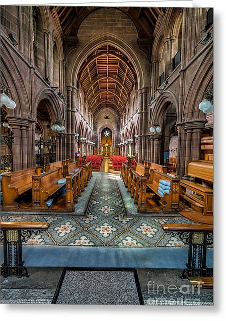 English Church Greeting Card by Adrian Evans