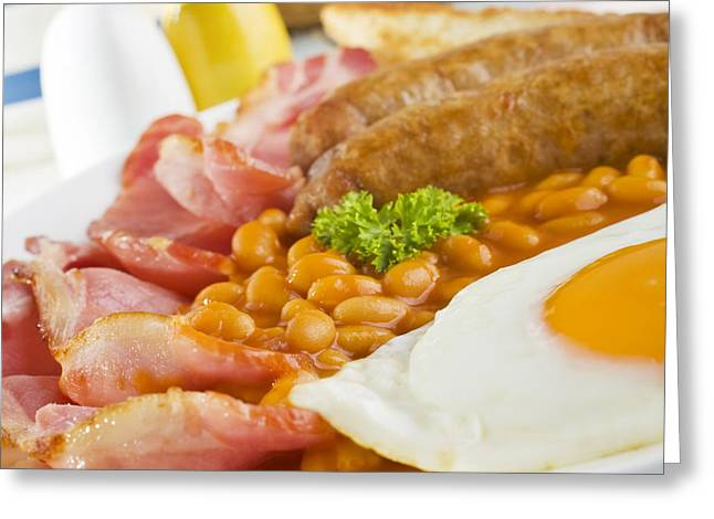 Bacon Greeting Cards - English Cooked Breakfast Greeting Card by Colin and Linda McKie