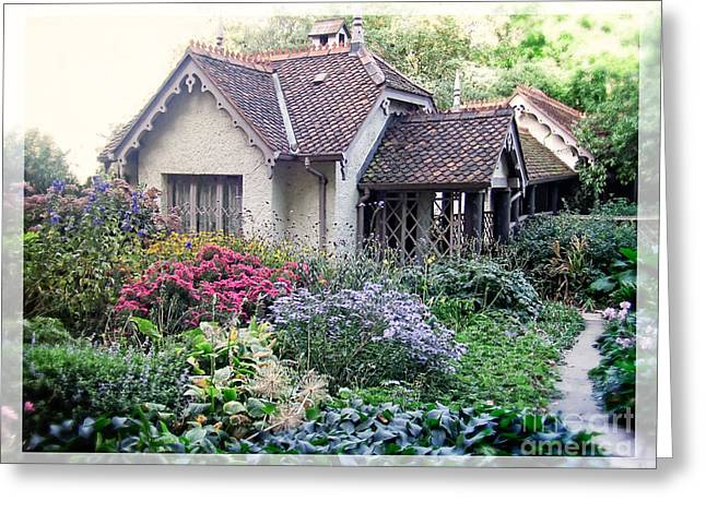 Annuals Greeting Cards - English Cottage Garden Greeting Card by Edward Fielding