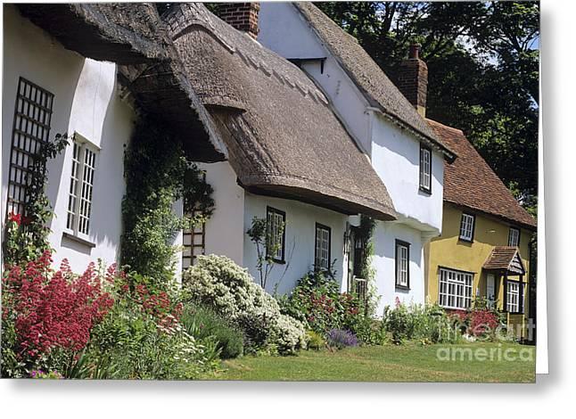 Wenden Greeting Cards - English Cottages Greeting Card by Derek Croucher