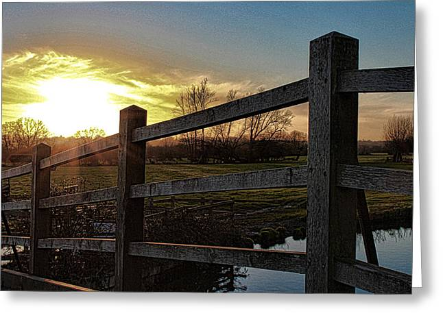 Calm Lake Greeting Cards - English Countryside Greeting Card by Martin Newman