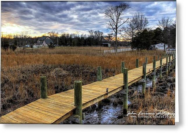 Fishing Creek Greeting Cards - English Creek Greeting Card by John Loreaux