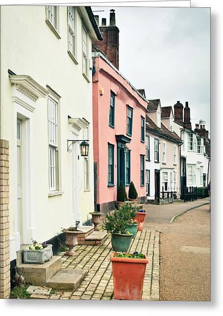 Clare Greeting Cards - English houses Greeting Card by Tom Gowanlock