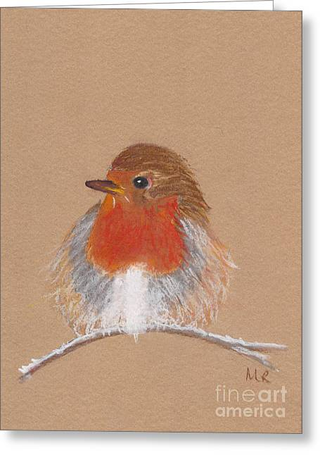 Michelle Pastels Greeting Cards - English Robin II Greeting Card by Michelle Reeve