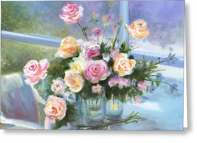 Cecilia Brendel Greeting Cards - English Roses Greeting Card by Cecilia  Brendel
