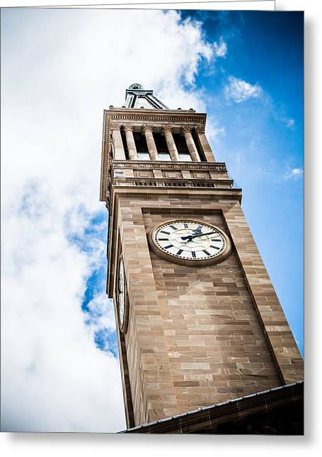 Watch Tower Greeting Cards - British Clock Tower Greeting Card by Parker Cunningham