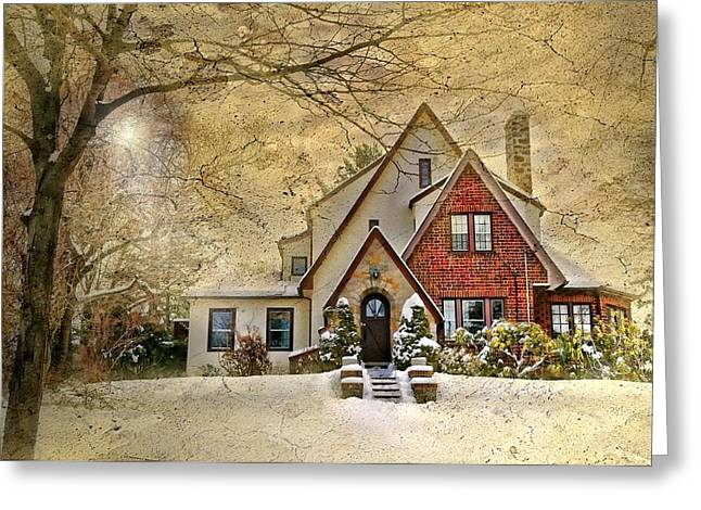 Winter Classic Greeting Cards - English Tudor Greeting Card by Diana Angstadt