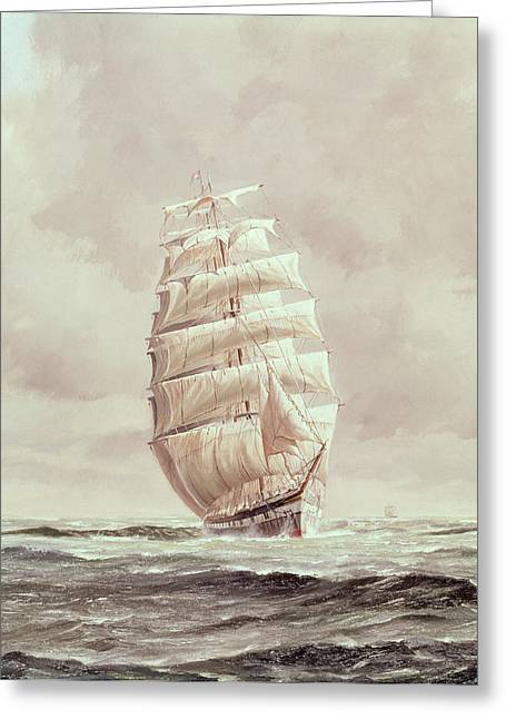Daniel Greeting Cards - English Wool Clipper Greeting Card by Anonymous