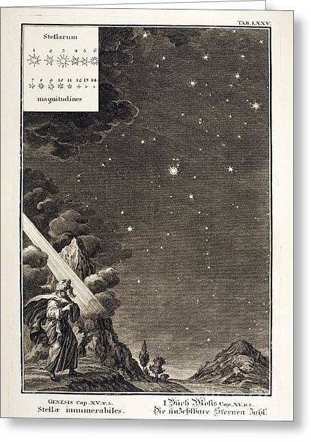 Magnitude Greeting Cards - Engraving Of Star Magnitudes, 1731 Greeting Card by Paul D. Stewart