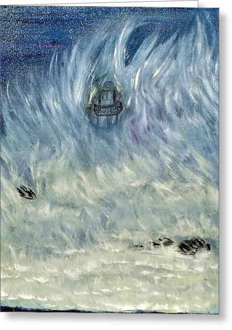 Engulfing Greeting Cards - Engulfed Light House Greeting Card by Suzanne Surber