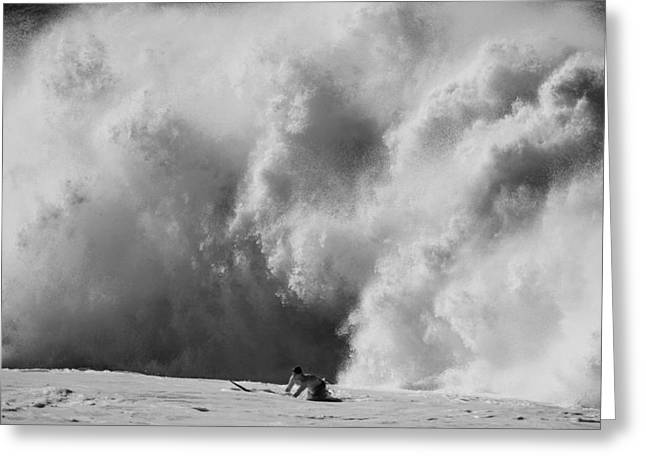 Surf Photography Greeting Cards - Engulfed Greeting Card by Sean Davey