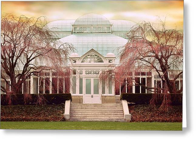 Conservatory Greeting Cards - Enid A. Haupt Conservatory Greeting Card by Jessica Jenney