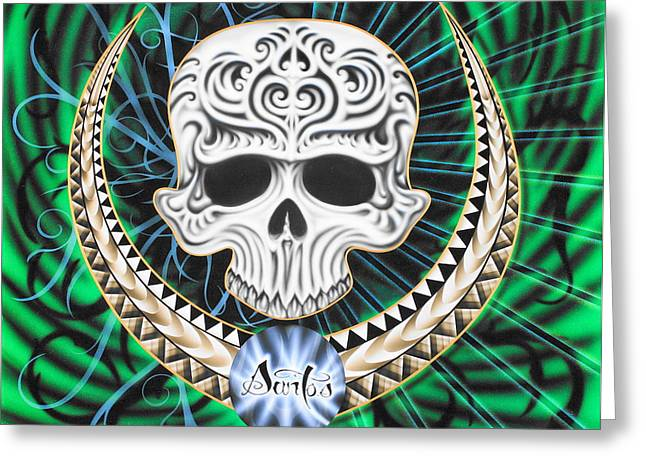 Kustom Graphics Greeting Cards - Enigma Greeting Card by Augustine Mattei