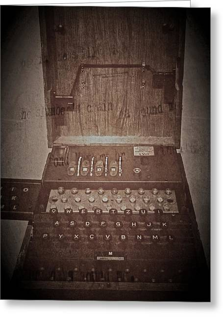 Jylland Greeting Cards - Enigma Machine Greeting Card by Odd Jeppesen