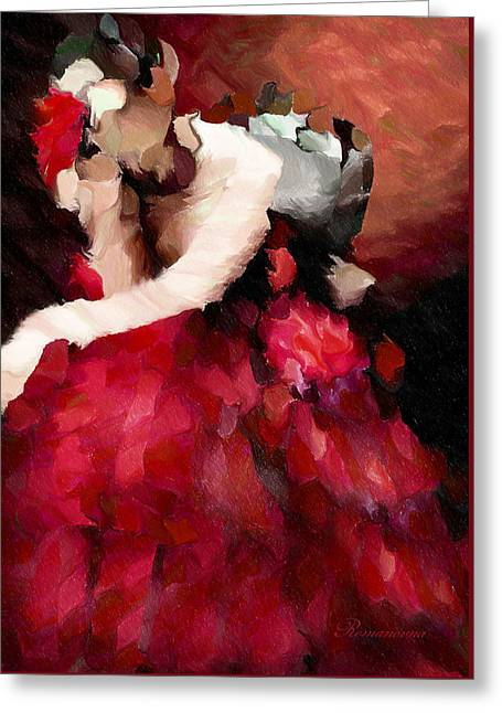 Enigma Of A Geisha - Abstract Realism Greeting Card by Georgiana Romanovna