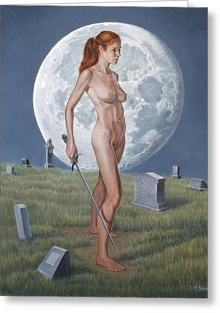 Cemetery Greeting Cards - Enigma Greeting Card by Paul Krapf