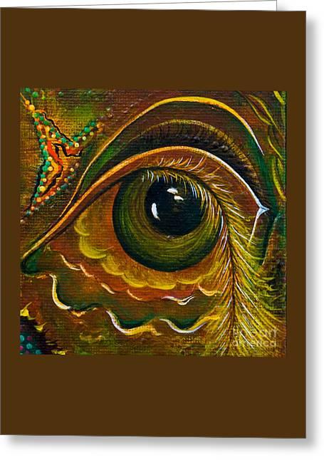Brow Chakra Greeting Cards - Enigma Spirit Eye Greeting Card by Deborha Kerr