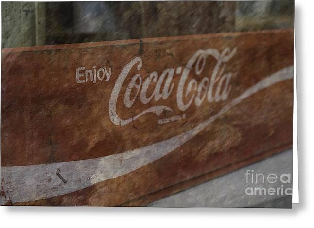 Coca Cola.coke-a-cola Greeting Cards - Enjoy Greeting Card by Arlene Carmel