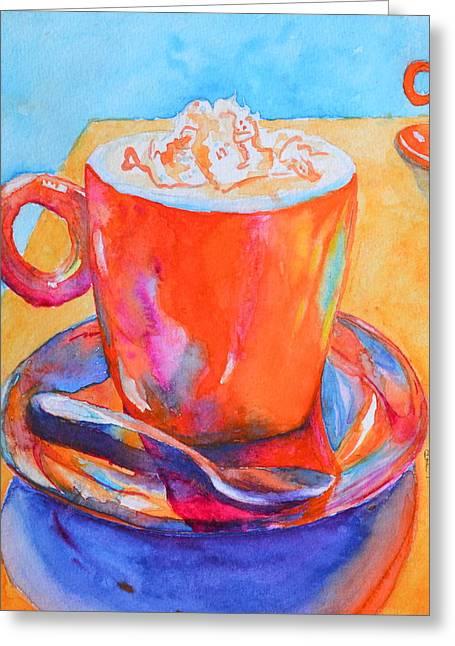 Coffee Drinking Greeting Cards - Enjoy Greeting Card by Beverley Harper Tinsley