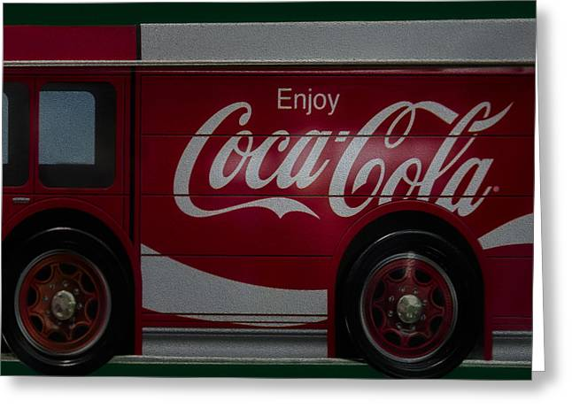 The Real Thing Greeting Cards - Enjoy Coca Cola Greeting Card by Susan Candelario