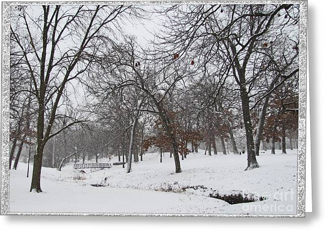 Snowstorm Prints Greeting Cards - Enjoy The Beauty of Nature Framed Greeting Card by Adri Turner
