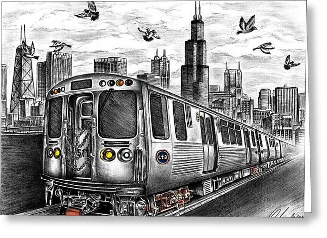 Prospects Drawings Greeting Cards - Enjoy The Ride Greeting Card by Omoro Rahim