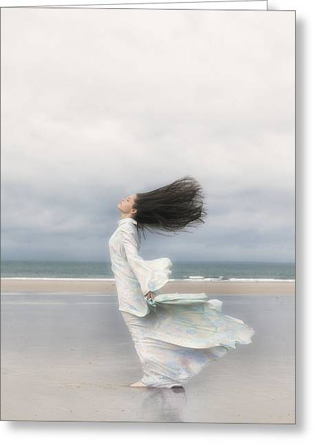 Dream Like Greeting Cards - Enjoying The Wind Greeting Card by Joana Kruse