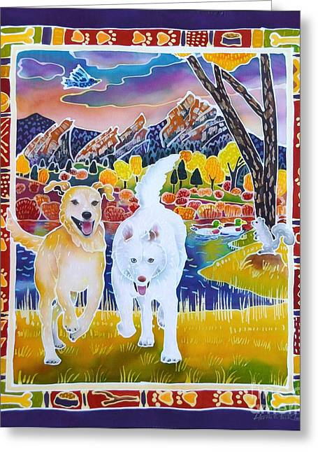 Huskies Greeting Cards - Enlightened Beings Greeting Card by Harriet Peck Taylor