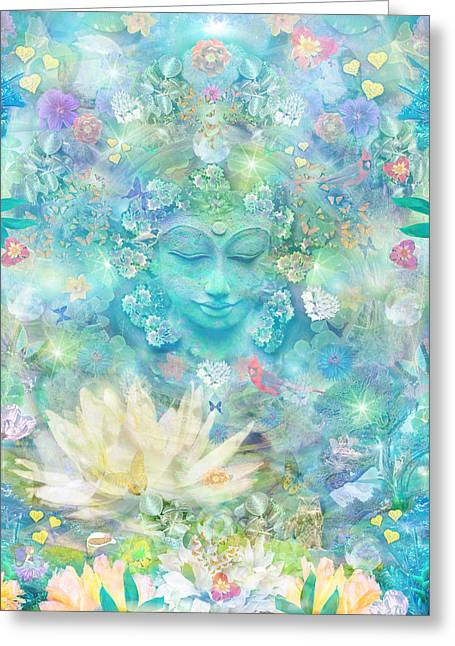 Spiritual Teacher Greeting Cards - Enlightened Forest Heart 3 Greeting Card by Alixandra Mullins