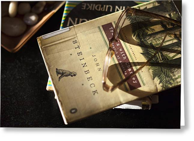 Table Top Still Life Greeting Cards - Enlightened Reading Greeting Card by Peter Chilelli