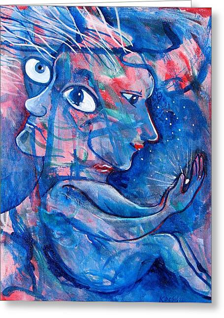 Subconscious Greeting Cards - Enlightened Greeting Card by Rollin Kocsis
