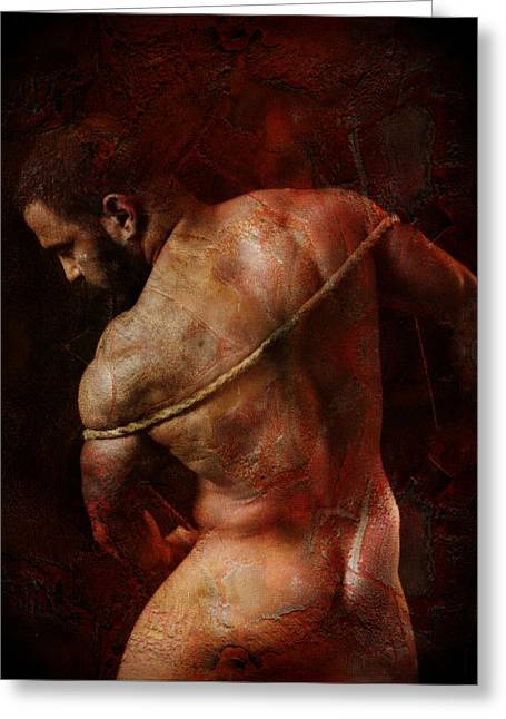 Naked Men Greeting Cards - Enlightenment 5 Greeting Card by Chris  Lopez