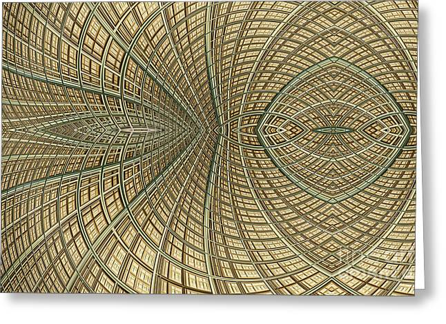 Abstract Style Greeting Cards - Enmeshed Greeting Card by John Edwards