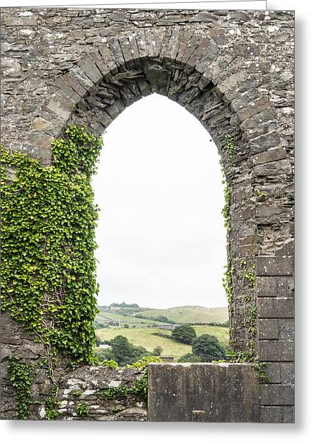 Ennistymon Greeting Cards - Ennistymon Hills from St Andrews Greeting Card by Ron St Jean