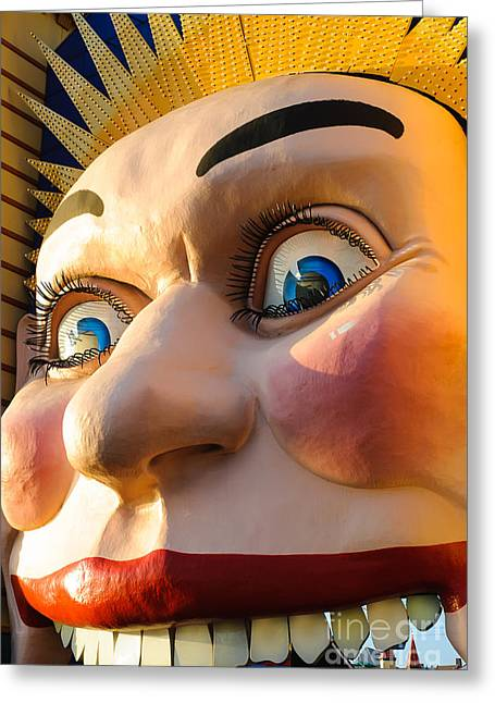Cole Greeting Cards - Enormous smiling face Greeting Card by David Hill