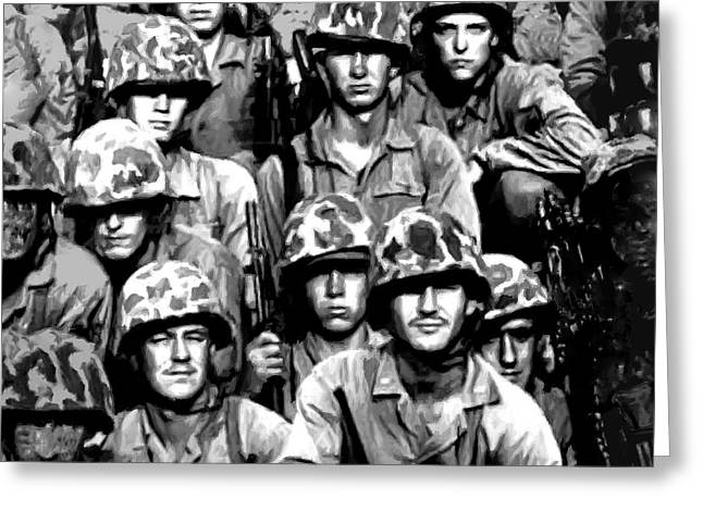 Brigade Digital Greeting Cards - EnRoute to Korea on LST Greeting Card by  Bob and Nadine Johnston
