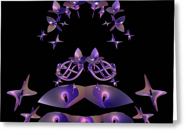 Floral Digital Art Greeting Cards - Ensemble by jammer Greeting Card by First Star Art