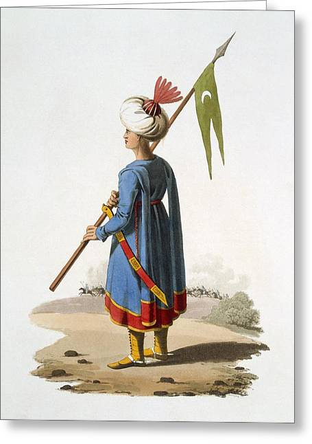 Mclean Greeting Cards - Ensign Bearer Of The Spahis, 1818 Greeting Card by English School