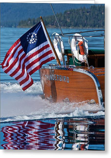 Best Sellers -  - Mahogany Red Greeting Cards - Ensign Thunderbird Greeting Card by Steven Lapkin