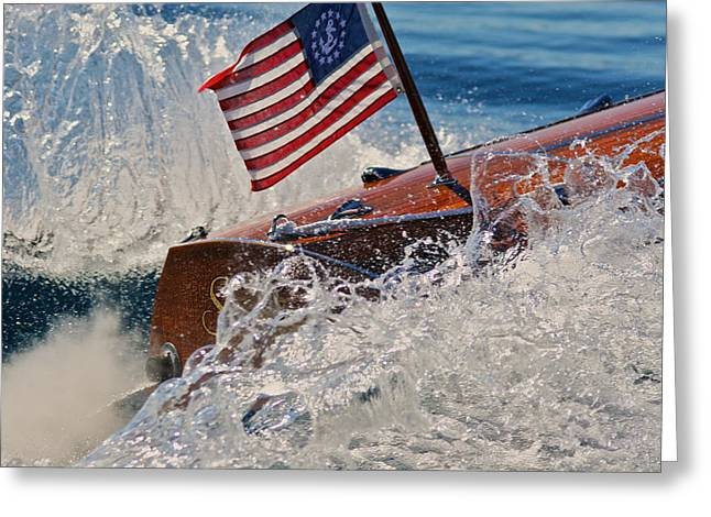Ensign Wake Greeting Card by Steven Lapkin