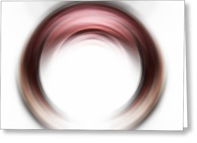 Red Wine Prints Greeting Cards - Enso Blush - Abstract Art By Sharon Cummings Greeting Card by Sharon Cummings