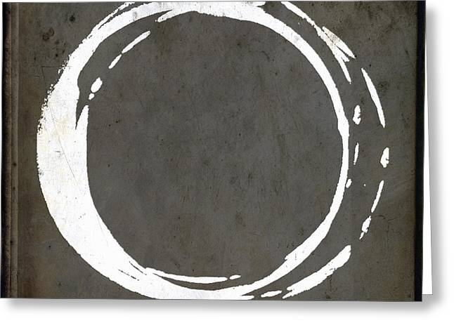 Chic Digital Greeting Cards - Enso No. 107 Gray Brown Greeting Card by Julie Niemela