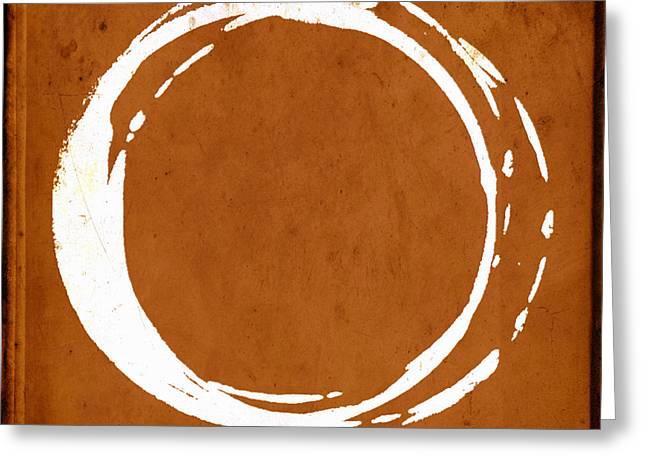 Enso No. 107 Orange Greeting Card by Julie Niemela