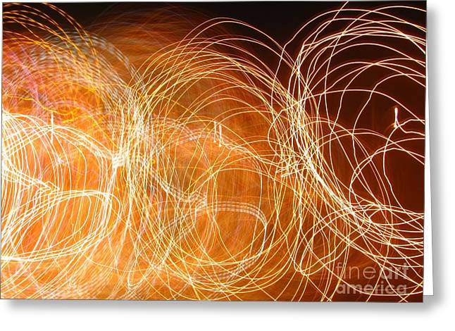 Best Sellers -  - Geometric Effect Greeting Cards - Entangled Light Rays Greeting Card by Laxmikant Chaware