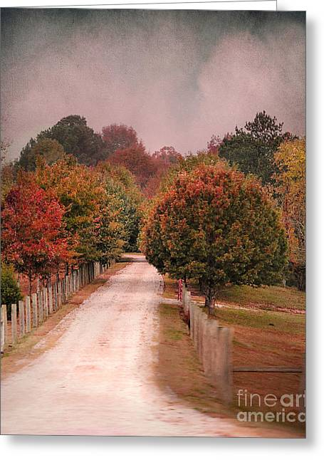 Autumn Scenes Greeting Cards - Enter Fall Greeting Card by Jai Johnson