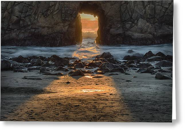 Pfeiffer Beach Greeting Cards - Enter Here Greeting Card by Alan Kepler